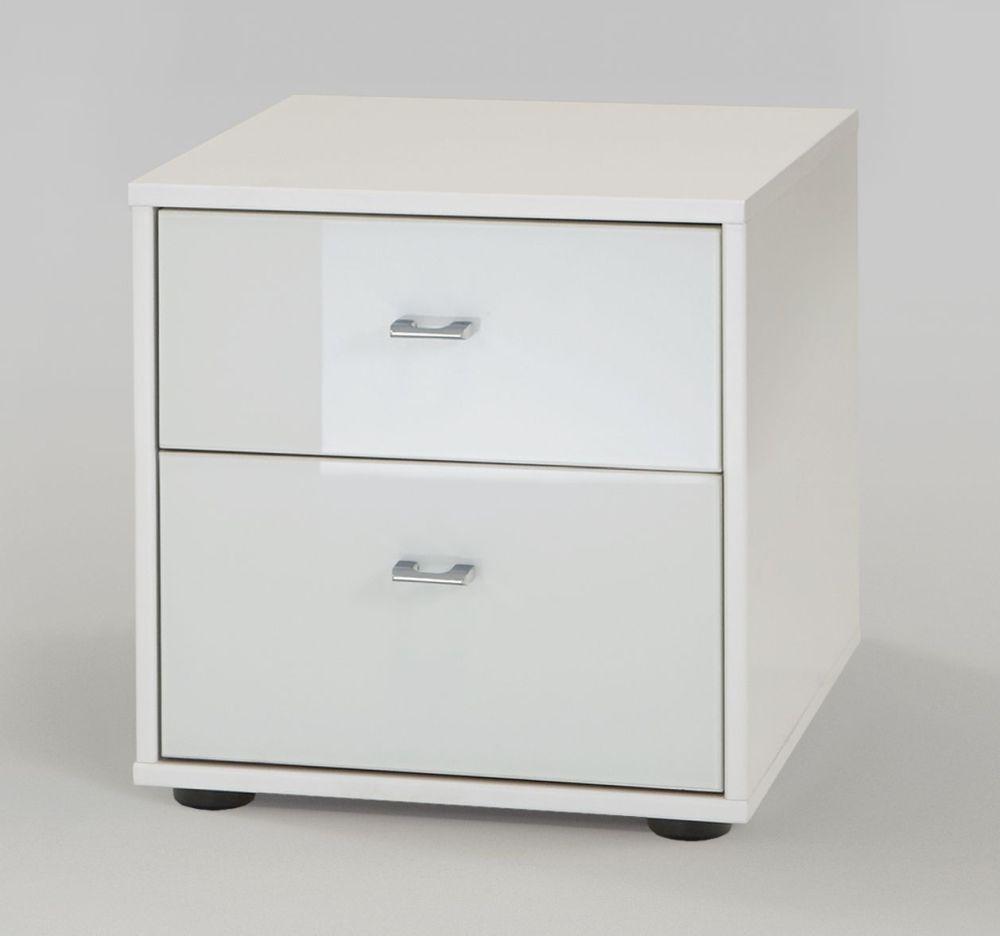 Wiemann VIP Westside 2 Drawer Bedside Cabinet in White - W 40cm