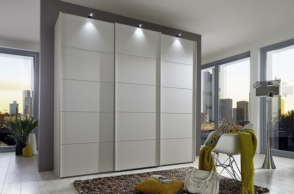Wiemann VIP Westside 3 Door Sliding Wardrobe in White - W 280cm
