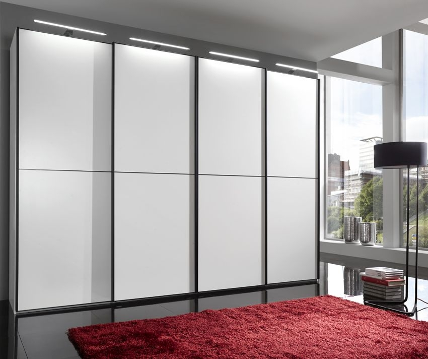 Wiemann VIP Westside 4 Door Sliding Wardrobe in White - W 330cm
