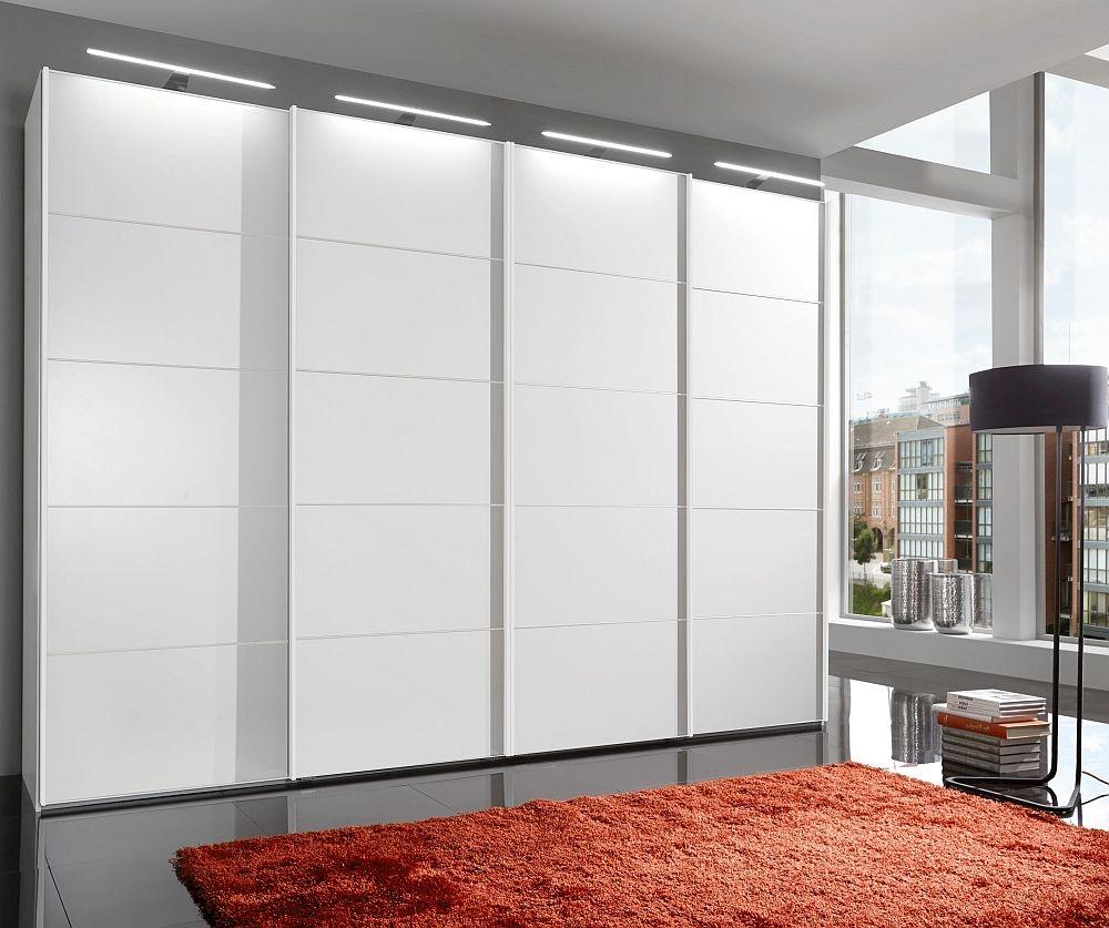 Wiemann VIP Westside 4 Door Sliding Wardrobe in White - W 400cm
