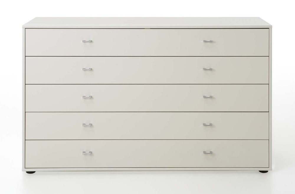 Wiemann VIP Westside 5 Drawer Wide Chest in White