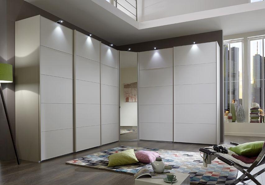 Wiemann VIP Westside 6 Door Sliding Wardrobe in White - W 493cm