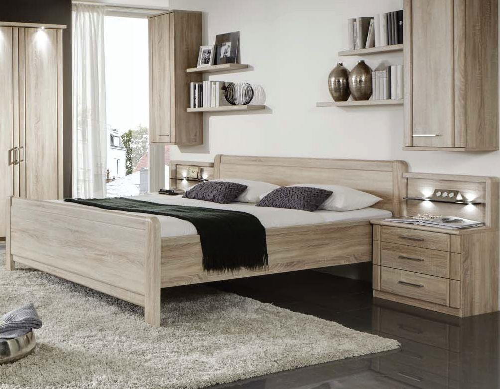 Wiemann Valencia 6ft Queen Size Comfort Bed in Rustic Oak - 180cm x 200cm