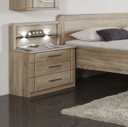 Wiemann Valencia 3 Drawer Bedside Cabinet in Rustic Oak - W 40cm