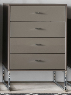 Wiemann Vigo 2 Door Glass Dresser in Havana - W 80cm