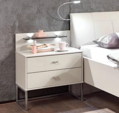 Wiemann Vigo 2 Drawer Bedside Cabinet in Champagne - W 40cm