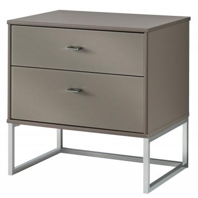 Wiemann Vigo 2 Drawer Bedside Cabinet in Havana - W 60cm