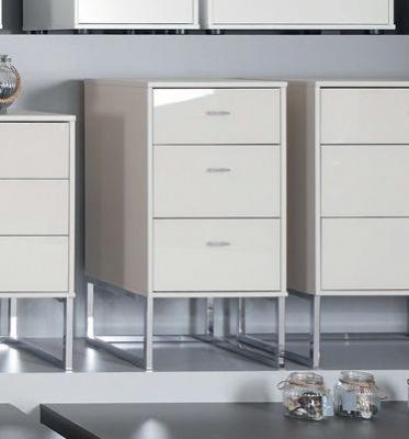 Wiemann Vigo 3 Drawer Bedside Cabinet in Champagne - W 60cm
