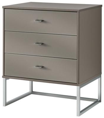 Wiemann Vigo 3 Drawer Bedside Cabinet in Havana - W 40cm