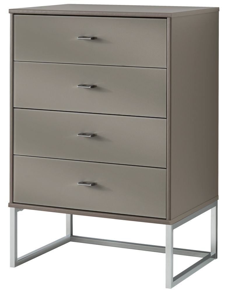 Wiemann Vigo 2 Door 4 Drawer Combi Chest in Havana