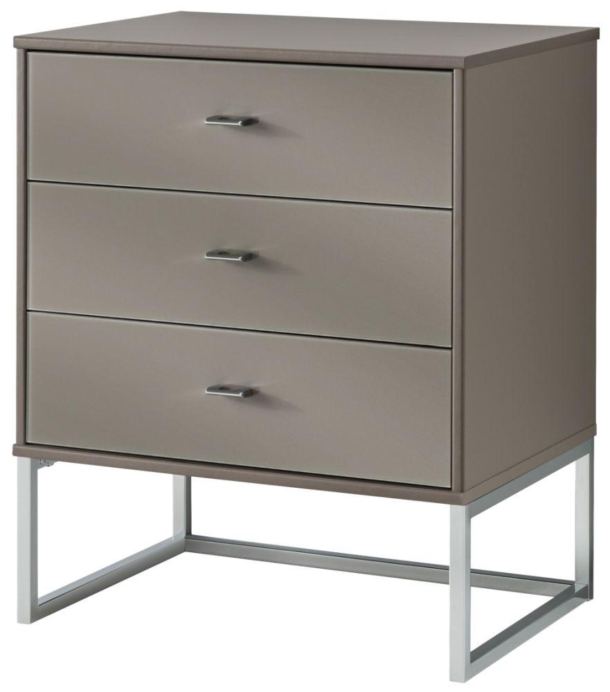 Wiemann Vigo 3 Drawer Bedside Cabinet in Havana - W 60cm