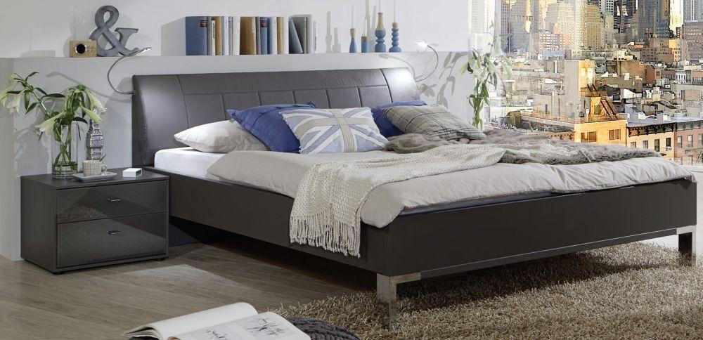 Wiemann Vigo 5ft King Size Faux Leather Cushion Bed in Havana - 160cm x 200cm