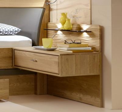 Wiemann Wega 1 Drawer Bedside Cabinet in Oak