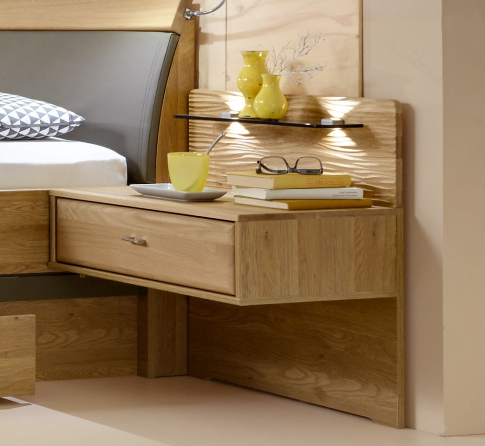 Wiemann Wega 1 Drawer Bedside Cabinet in Oak