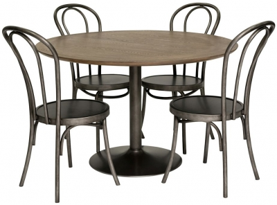Willis and Gambier Camden Round Dining Set with 4 Side Chairs - 122cm