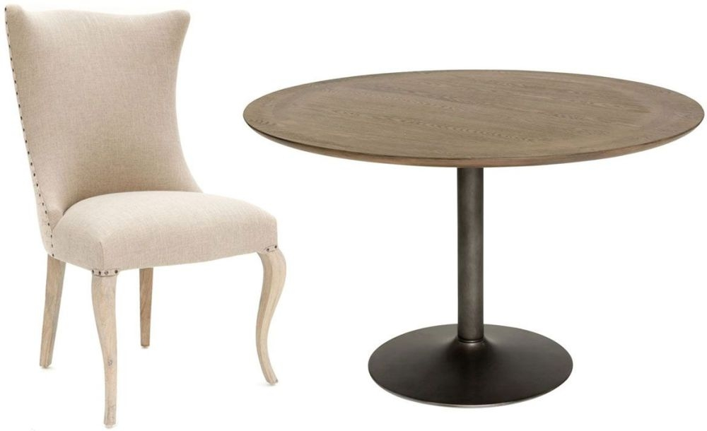 Willis and Gambier Camden Round Dining Set with 4 Barcelona Script Back Chairs - 122cm