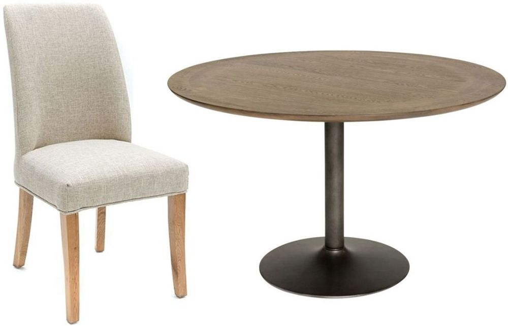 Willis and Gambier Camden Round Dining Set with 4 Pinner Chairs - 122cm