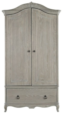 Willis and Gambier Camille Oak 2 Door 1 Drawer Double Wardrobe