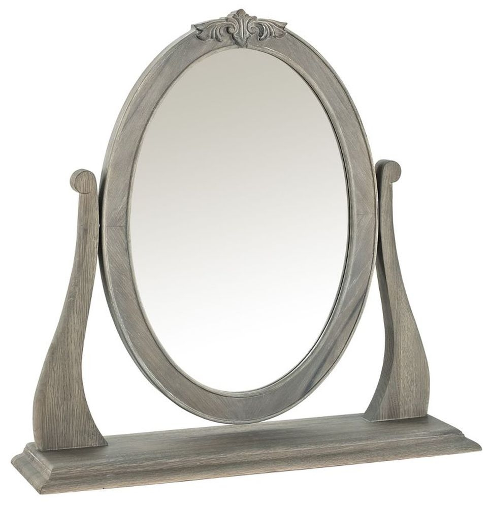 Willis and Gambier Camille Oak Oval Gallery Mirror