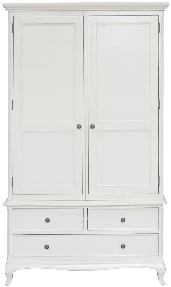 Willis and Gambier Chantilly Painted 2 Door 3 Drawer Double Wardrobe