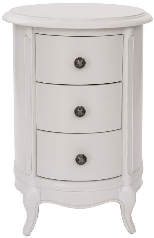 Willis and Gambier Chantilly Painted 3 Drawer Drum Bedside Cabinet