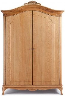 Willis and Gambier Charlotte Oak Wide Fitted Wardrobe - 2 Door