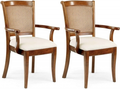 Clearance Willis and Gambier Lille Cane Carver Chair (Pair)