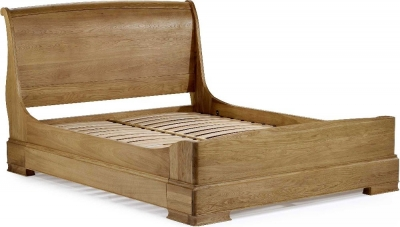 Clearance Willis and Gambier Lyon Oak Low End Bed - 6ft Queen Size