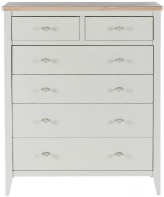 Willis and Gambier Coast Painted 4+2 Chest of Drawer