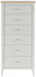 Willis and Gambier Coast Painted Tall 6 Chest of Drawer