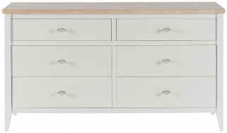 Willis and Gambier Coast Painted Wide 6 Chest of Drawer