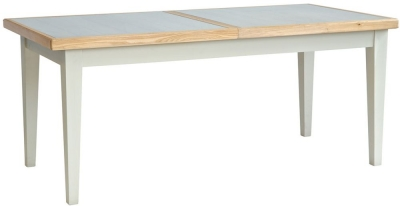 Willis and Gambier Coast Painted Extending Dining Table with Glass Top