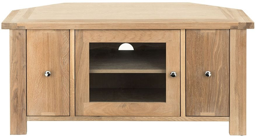 Willis and Gambier Cotswold Oak 1 Door 2 Drawer Corner TV Unit