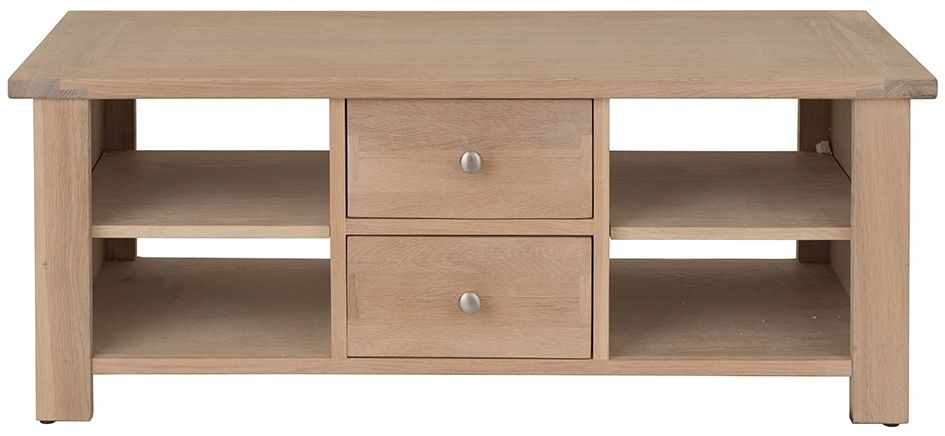 Willis and Gambier Cotswold Oak 2 Drawer Storage Coffee Table