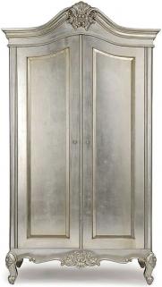 Willis and Gambier Cristal Silver Leaf Double Wardrobe - 2 Door