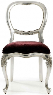 Willis and Gambier Cristal Silver Leaf Bedroom Chair
