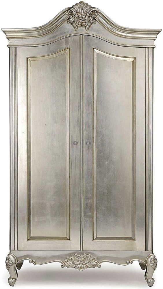 Willis and Gambier Cristal Silver Leaf 2 Door Double Wardrobe