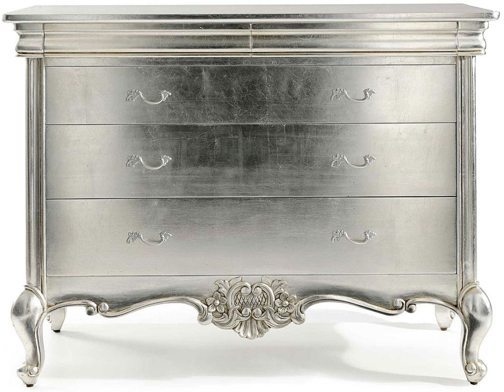 Willis and Gambier Cristal Silver Leaf 3 Chest of Drawer