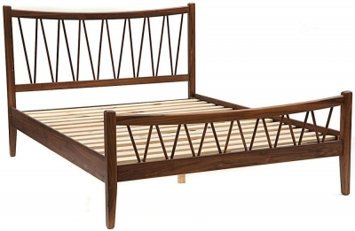 Willis and Gambier Elegance Black Walnut Bed and Slats - High Foot End