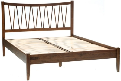 Willis and Gambier Elegance Black Walnut Bed and Slats - Low Foot End