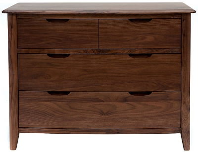 Willis and Gambier Elegance Black Walnut Chest of Drawer - 2+2 Drawer