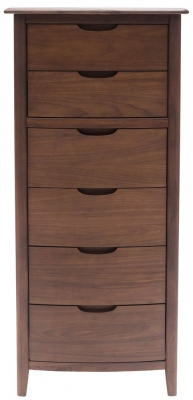 Willis and Gambier Elegance Black Walnut Chest of Drawer - 6 Drawer Tall