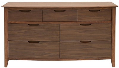 Willis and Gambier Elegance Black Walnut Chest of Drawer - 7 Drawer Wide