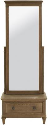 Willis and Gambier Elle 1 Door 1 Drawer Rectangular Cheval Mirror