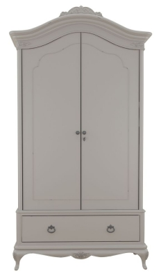 Willis and Gambier Etienne Grey 2 Door Combi Double Wardrobe