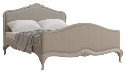 Willis and Gambier Etienne Grey Upholstered Bedstead