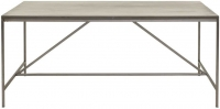 Willis and Gambier Forte Pine Faux Concrete Metal Base Rectangular Dining Table - 180cm