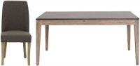 Willis and Gambier Forte Pine Faux Concrete Top Rectangular Dining Set with 6 Pinner Chairs - 165cm