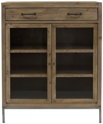 Willis and Gambier Forte Pine 2 Door 1 Drawer Tallboy & Pine Display Cabinets | Pine Display Units | Pine Corner Display