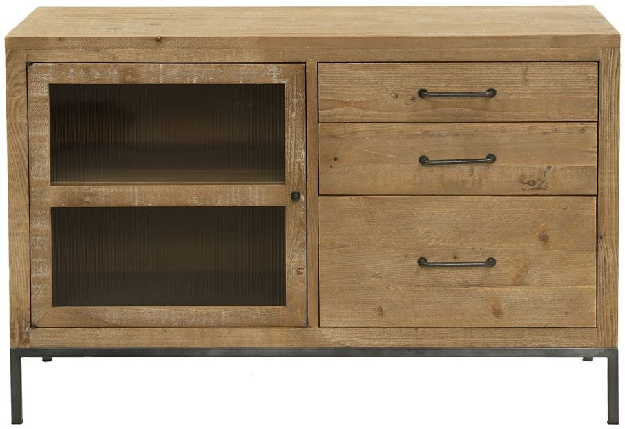 Willis and Gambier Forte Pine 1 Door 3 Drawer Narrow Sideboard